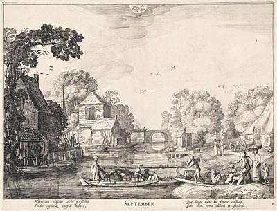 September, Jan Van De Velde II Poster by Jan Van De Velde (ii) And Claes Jansz. Visscher (ii)