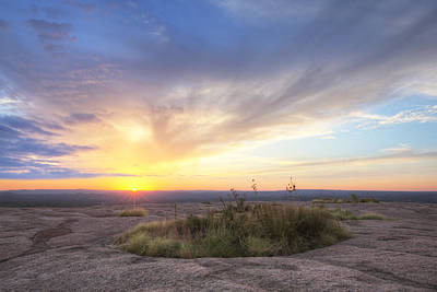 September Sunrise From Atop Enchanted Rock Poster by Rob Greebon