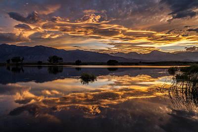September Sunset Reflected Poster