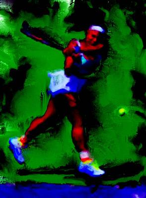 Serena Williams Powerful Return Poster