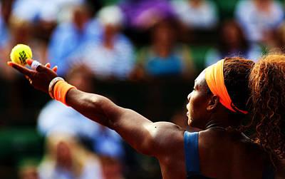 Serena Williams Poster by Srdjan Petrovic