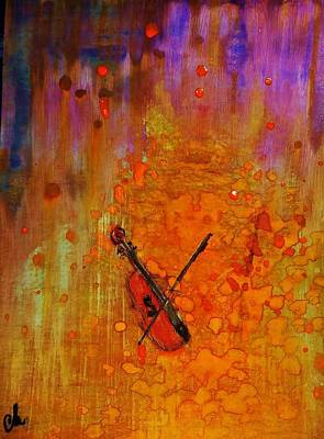 Poster featuring the painting Serenade For A Rainy Day... by Cristina Mihailescu
