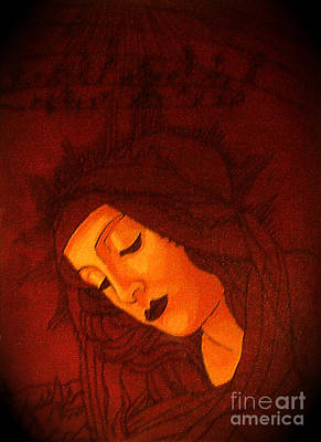 Serene Botticelli Madonna Poster by Genevieve Esson