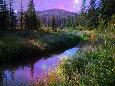 Serene Mountain Moment Poster by Shirley Sirois