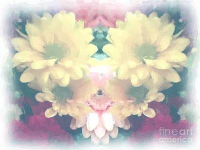 Poster featuring the photograph Serene Zinnias by Luther Fine Art