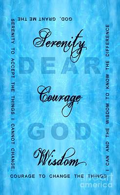 Serenity Prayer Dear God Poster by Margaret Newcomb