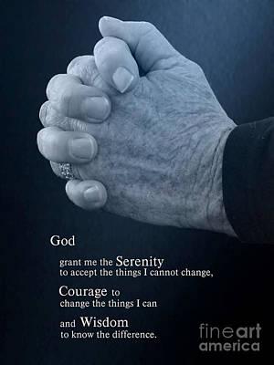 Serenity Prayer Finding Peace Poster by Ella Kaye Dickey
