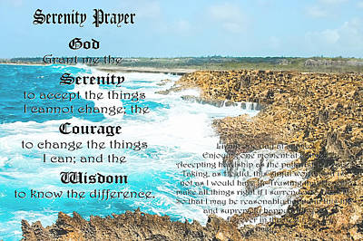 Serenity Prayer For Turbulent Times Poster