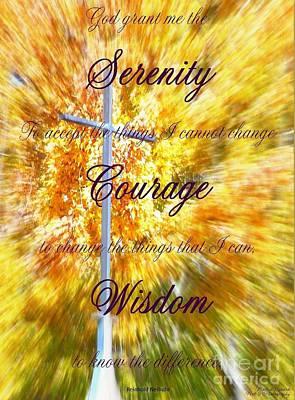 Serenity Prayer II By Bobbee Rickard Poster by Bobbee Rickard