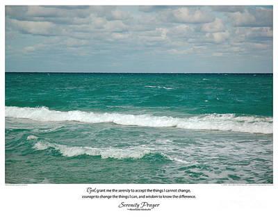 Serenity Prayer Print -- Crashing Waves At Hilton Head Poster