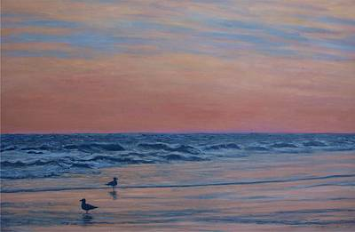 Poster featuring the painting Serenity - Study For Dusk At The Shore by Kathleen McDermott