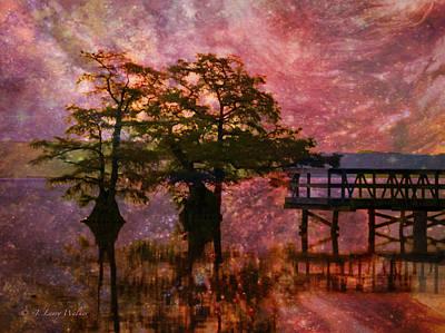 Serenity Sunrise Poster by J Larry Walker