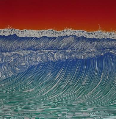 Series Of Waves 2 Poster by Jarle Rosseland