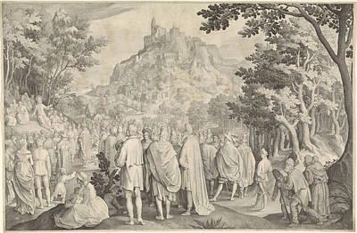 Sermon, Nicolaes De Bruyn Poster by Nicolaes De Bruyn