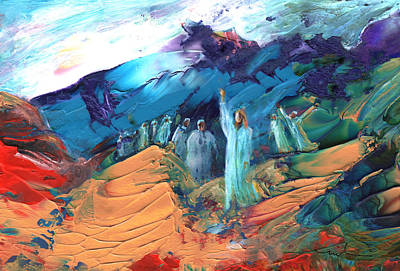 Sermon On The Mount Sinai Poster by Miki De Goodaboom