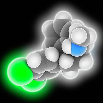Sertraline Drug Molecule Poster