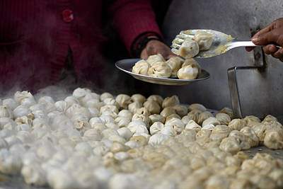 Serving Nepalese Momos Poster by Dutourdumonde Photography