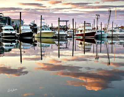 Sesuit Harbor Pastel Reflections Poster by Carl Jacobs