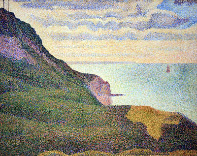 Seurat's Seascape At Port Bessin In Normandy Poster by Cora Wandel
