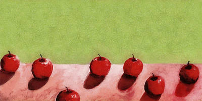 Seven Apples Poster by Michelle Calkins