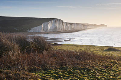 Seven Sisters Sunrise Viewed From Seaford Head Poster by Matthew Gibson