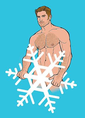 Sexy Snowman C Poster