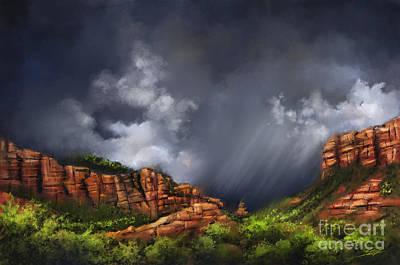 Thunderstorm In Sedona Poster