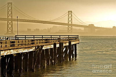 Sf Bay Bridge From Treasure Island Poster by Amy Fearn