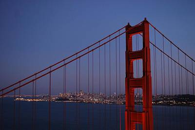 Sf Through The Bridge Poster