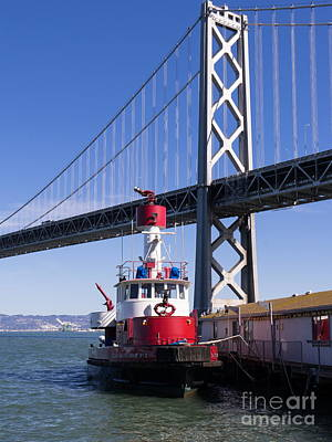 Sffd Guardian Fireboat Number 2 At The Bay Bridge On The Embarcadero Dsc01842 Poster
