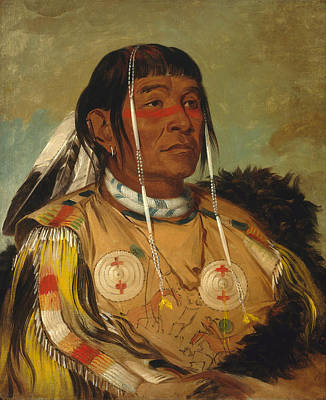 Sha-co-pay. The Six. Chief Of The Plains Ojibwa Poster by George Catlin