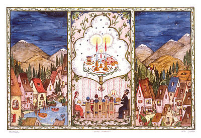 Shabbat In The Mountains Poster by Michoel Muchnik