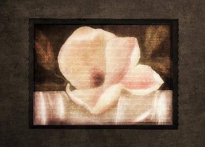 Shabby Vintage Magnolia Poster by Georgiana Romanovna