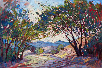 Poster featuring the painting Shaded Path by Erin Hanson