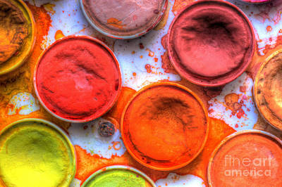 Shades Of Orange Watercolor Poster by Heidi Smith