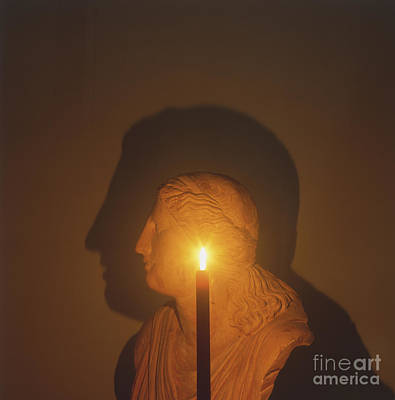 Shadow Of A Bust In Candle Light Poster by Dave King / Dorling Kindersley / Science Museum, London
