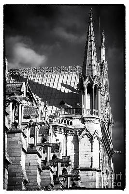 Shadows On Notre Dame Poster by John Rizzuto