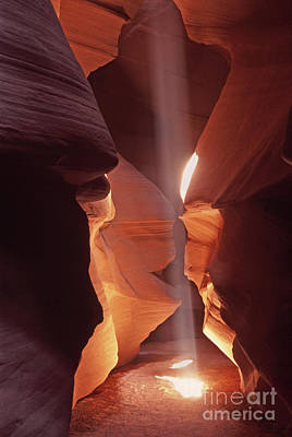 Shaft Of Light Antelope Canyon Poster