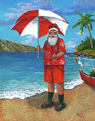 Poster featuring the painting Shaka Santa by Darice Machel McGuire