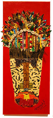 Poster featuring the tapestry - textile Shaka Zulu by Apanaki Temitayo M