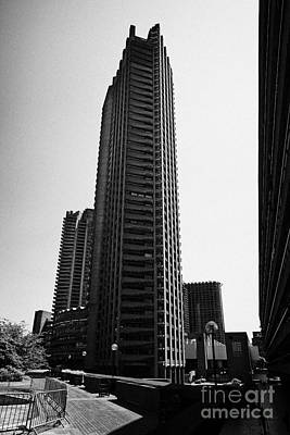 Shakespeare Tower In The Barbican Residential Estate London England Uk Poster by Joe Fox
