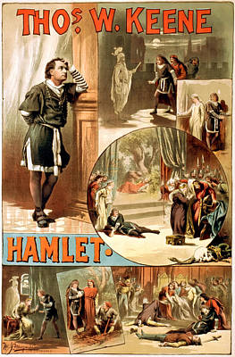Shakespeare's Hamlet 1884 Poster by Mountain Dreams