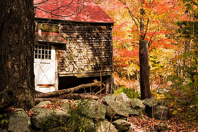 Shakey Barn Surrounded By Fall Colors Poster by Jeff Folger