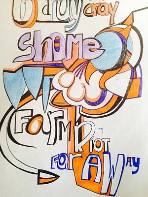 Shame On You Poster by Cheri Withrow Mason