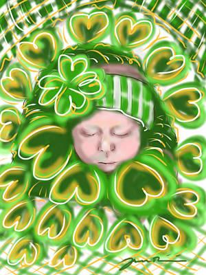 Shamrock Baby Poster by Jean Pacheco Ravinski