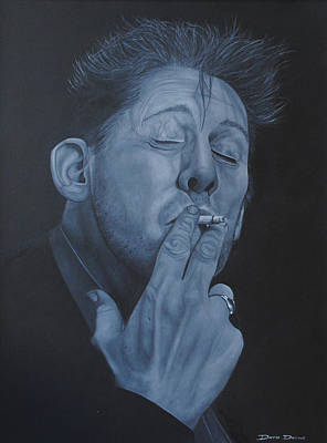 Poster featuring the painting Shane Macgowan by David Dunne
