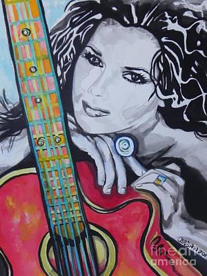 Shania Twain Poster by Chrisann Ellis