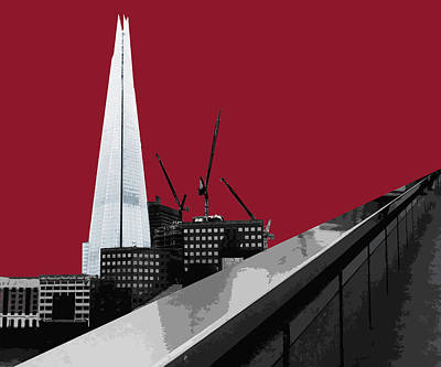 Shard - Blazing Red Poster by Big Fat Arts