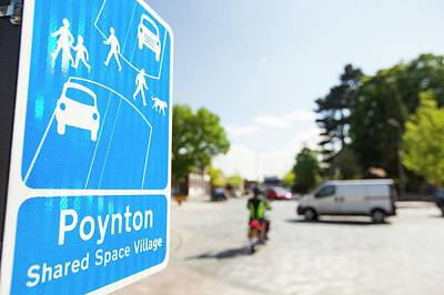 Shared Space In Poynton Poster