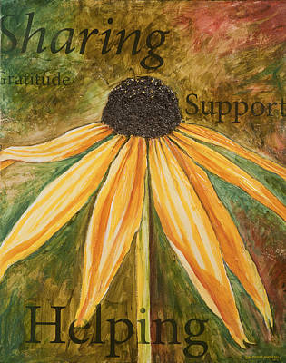 Poster featuring the painting Sharing by Lisa Fiedler Jaworski